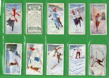 Tobacco cigarette cards Winter Sports  Ski  Hockey 1914